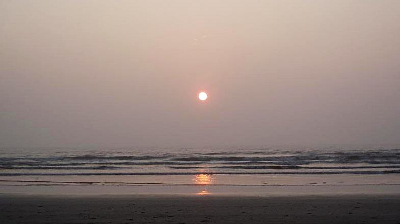machilipatnam beach sunrise