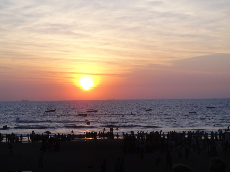 Sunset at Calangute Beach, Goa