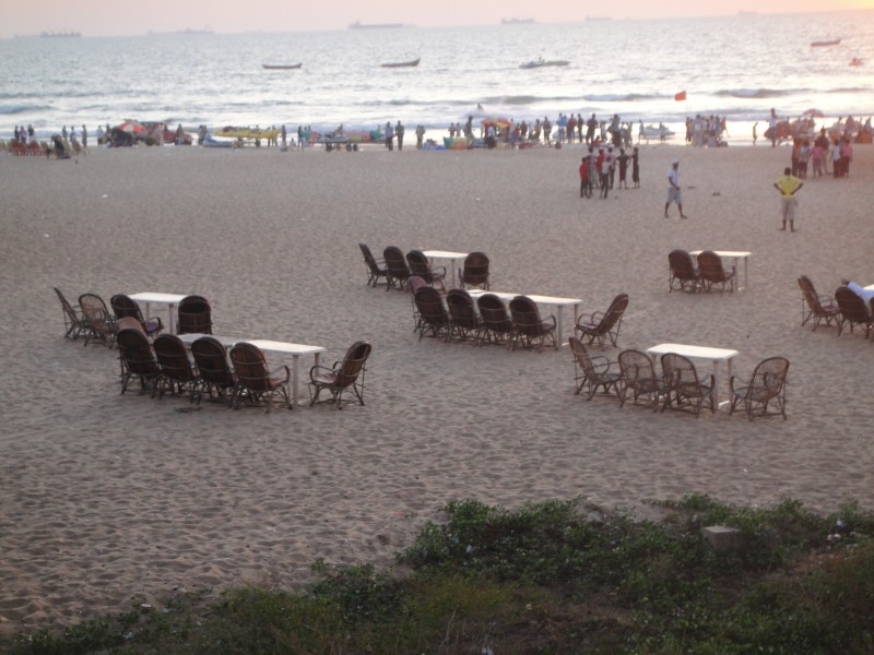 Evening at Calangute beach, Goa