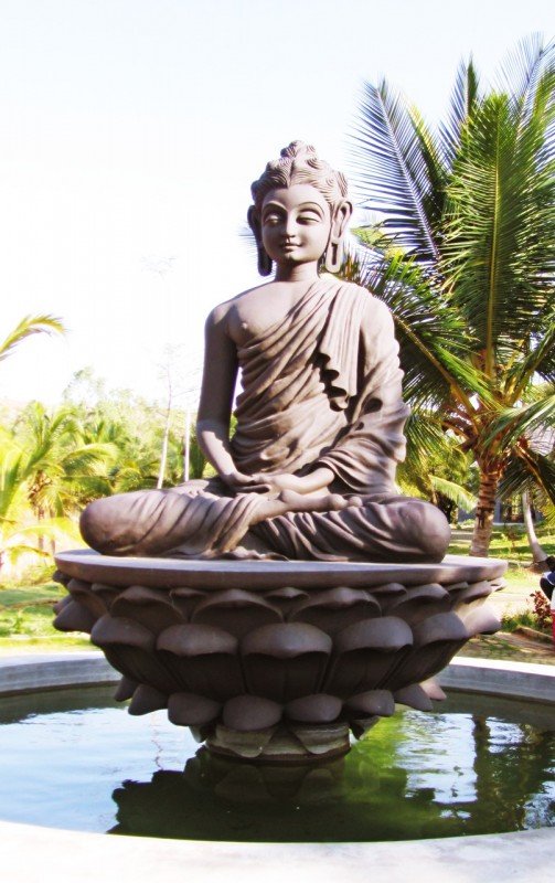 Buddha statue at pyramid