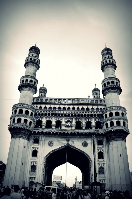 Charminar in black and white
