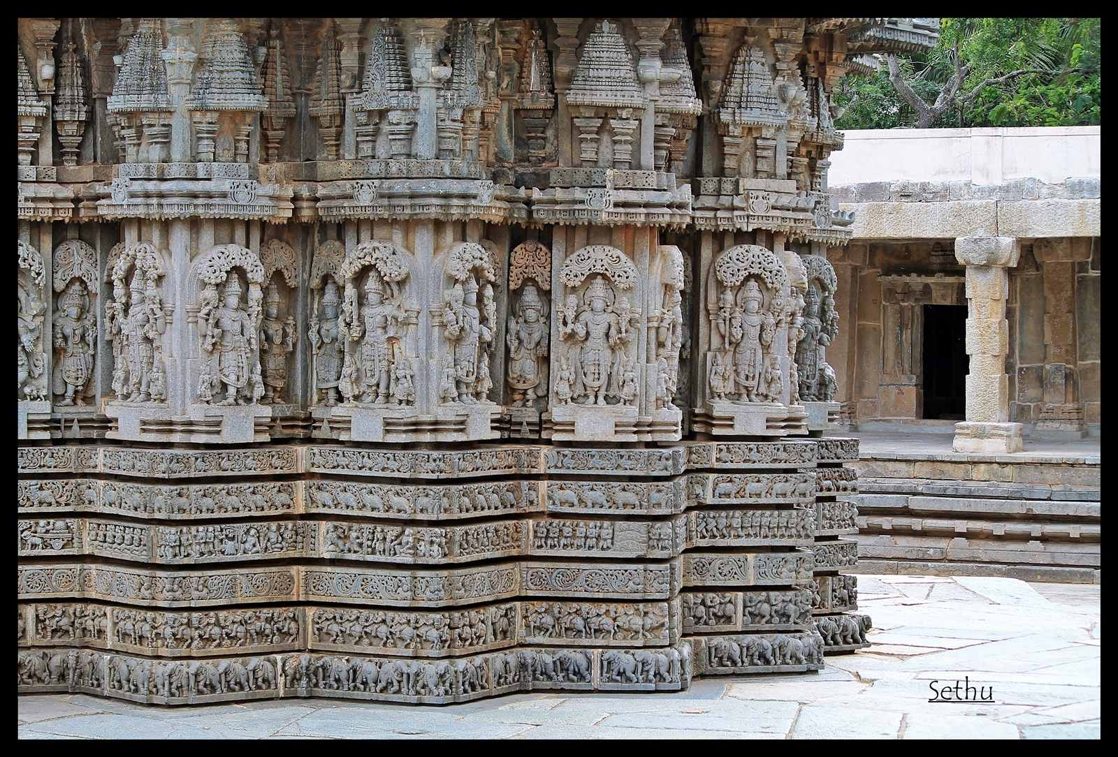 Images of Gods and Goddesses on the outer wall